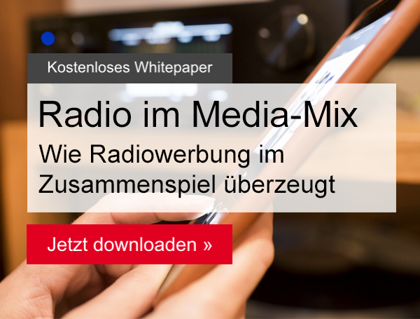 Button zum Whitepaper Radio im Media-Mix